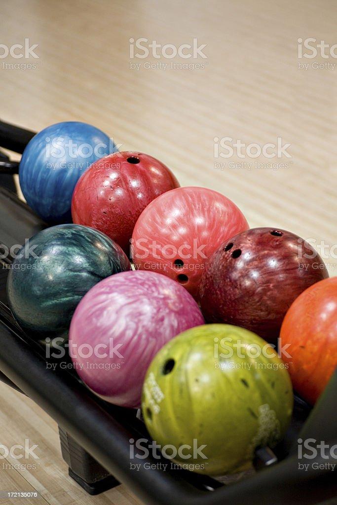 Bunte Bowlingkugel – Foto