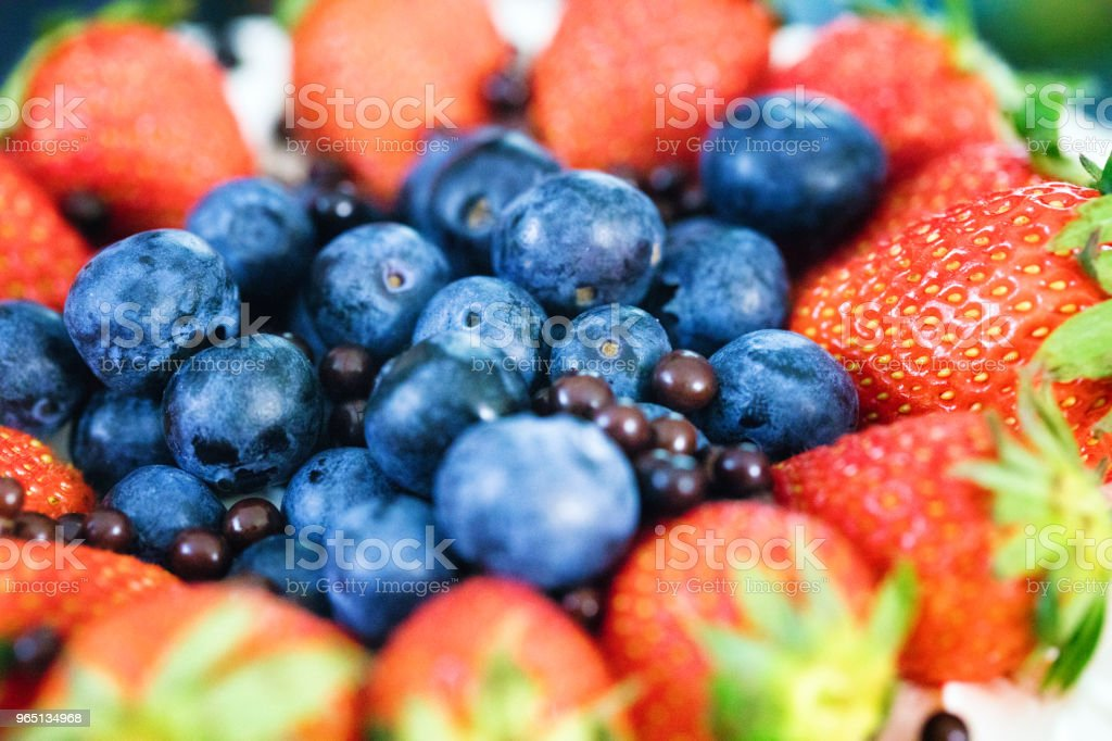 Close-up on colorful mixed berries royalty-free stock photo