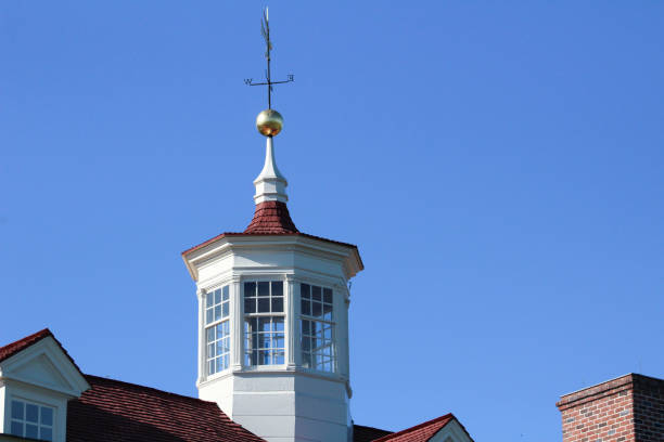 close-up on cupola of mt. vernon estate - cupola stock pictures, royalty-free photos & images