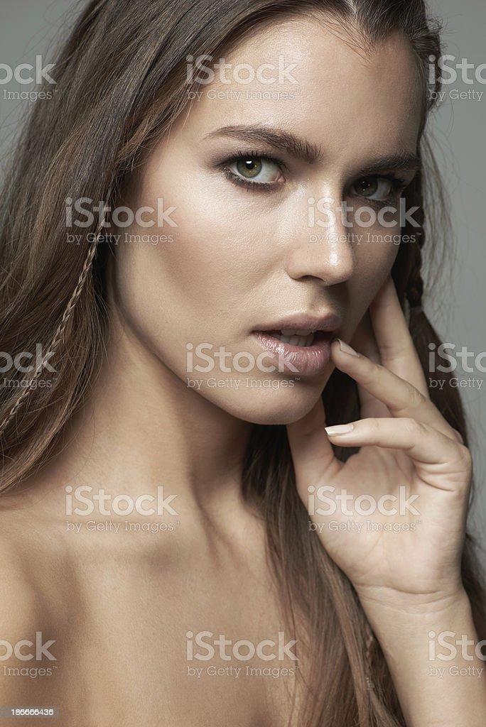 Closeup on feminine beauty royalty-free stock photo