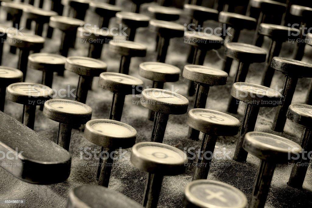 Closeup on keys - Typewriter royalty-free stock photo