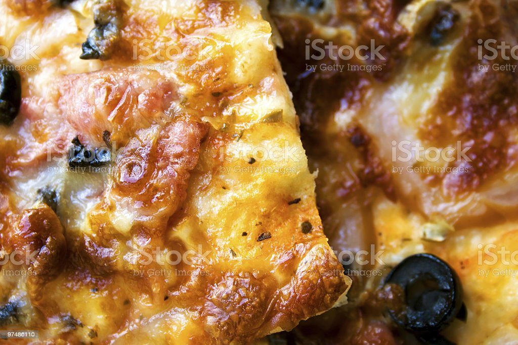 Close-up on pizza slices royalty-free stock photo