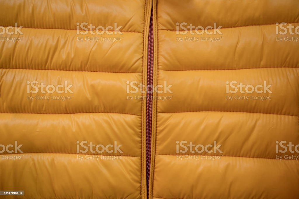 Close-up on puffer jacket texture royalty-free stock photo