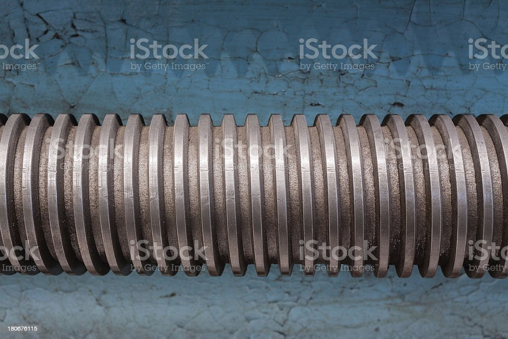 Close-up on screw royalty-free stock photo