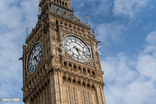 Close-up on the Big Ben in London - international landmarks