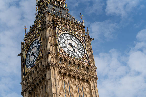 close-up on the big ben - big ben stock photos and pictures