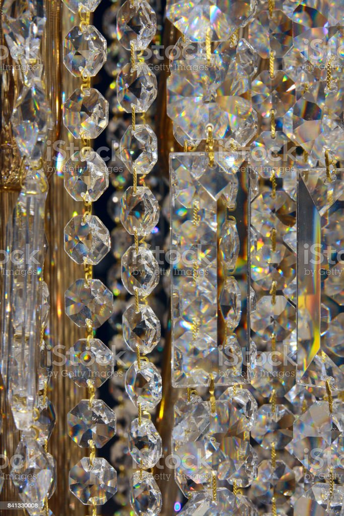 Closeup on the crystal glass stock photo
