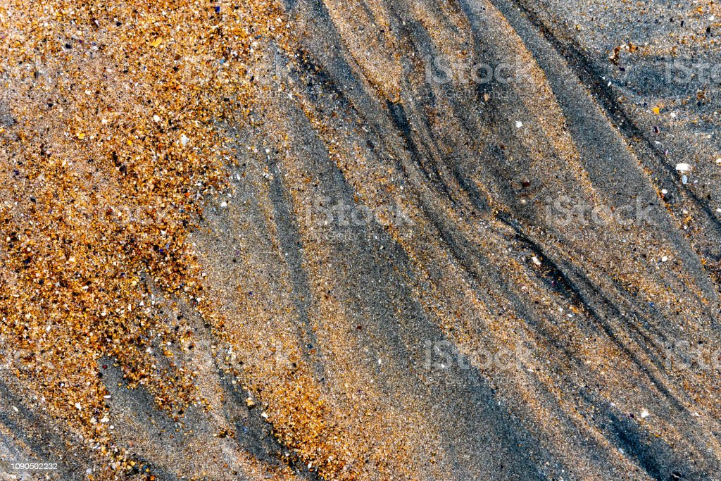 Closeup on the sand of the beah stock photo