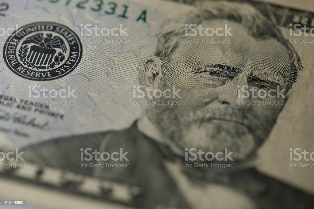 Close-up on Ulysses S. Grant stock photo