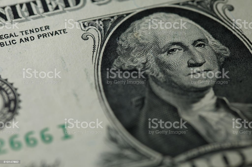 Close-up on Washington's stock photo