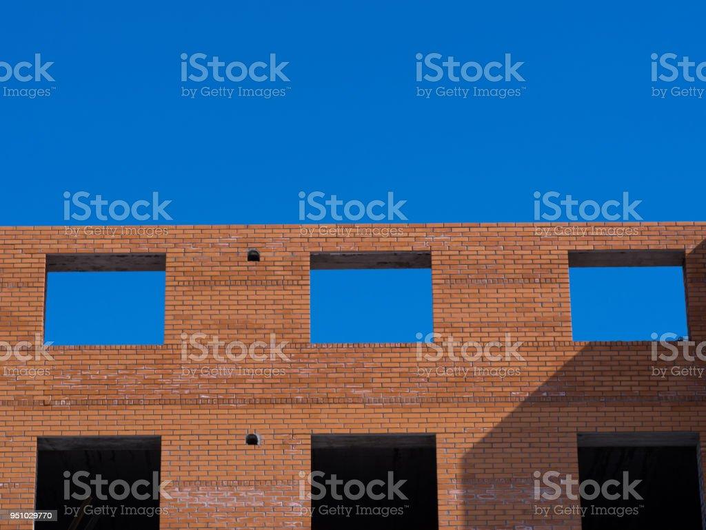 Closeup Auf Die Löcher Der Fensterrahmen Unter Blauem Himmel Stock ...