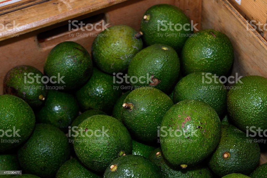 Close-up Organic Avacados at Outdoor Farmer's Market stock photo