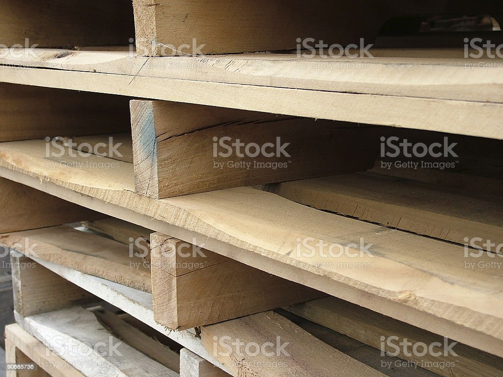 Close-up Pallets royalty-free stock photo