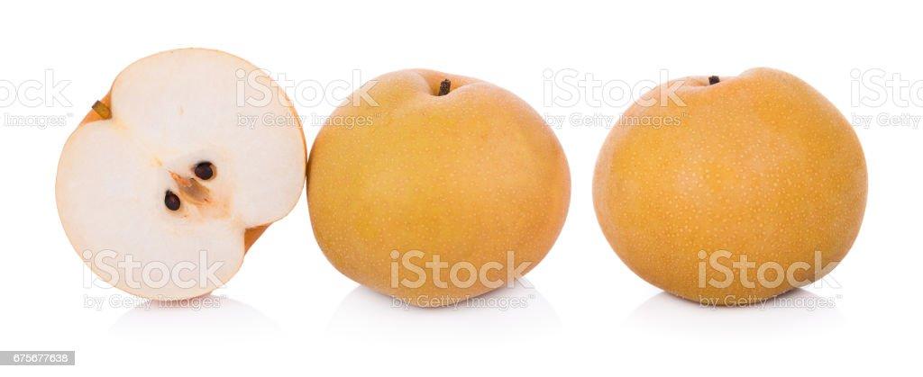 closeup pear on white background royalty-free stock photo
