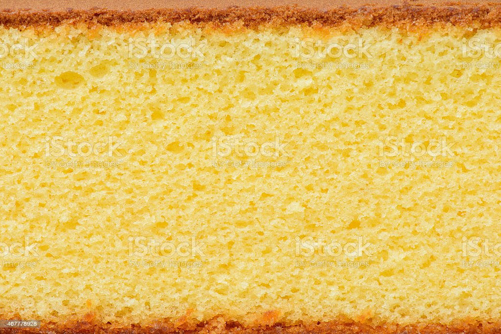 Close-up photo of a piece of sponge cake stock photo