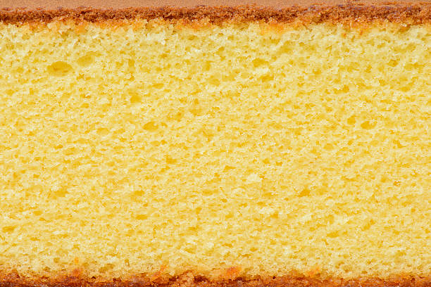 close-up photo of a piece of sponge cake - pasta stok fotoğraflar ve resimler