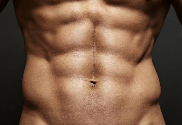 Nahaufnahme Foto eines Athleten perfekt für die Bauchmuskeln – Foto