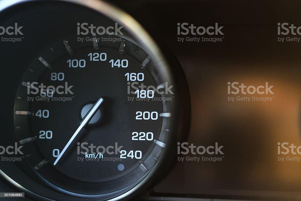 Nahaufnahme Foto des Auto-Tachometer – Foto