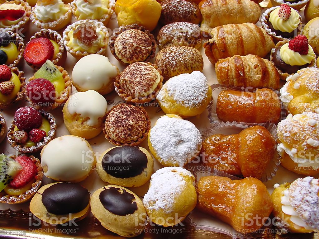 Close-up photo of delicious Italian pastries royalty-free stock photo
