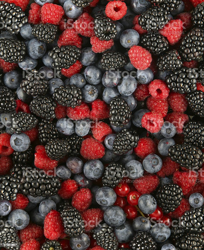 Close-up photo of mixed berries royalty-free stock photo