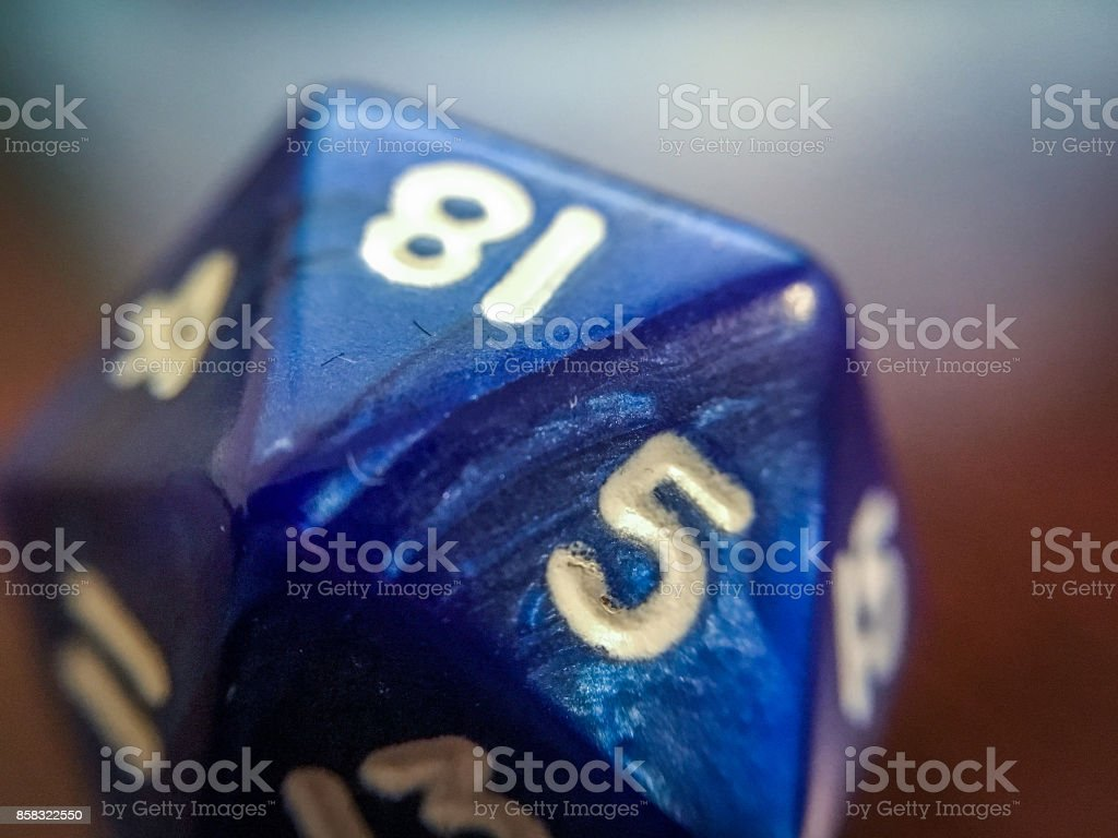 Close-Up Photo of Twenty Sided Role Playing Die stock photo