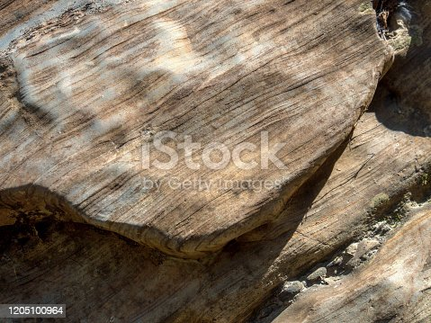 Close-up photography of the texture of a rock, captured at the Moniquira river, near the town of Gachantiva in the department of Boyaca, Colombia