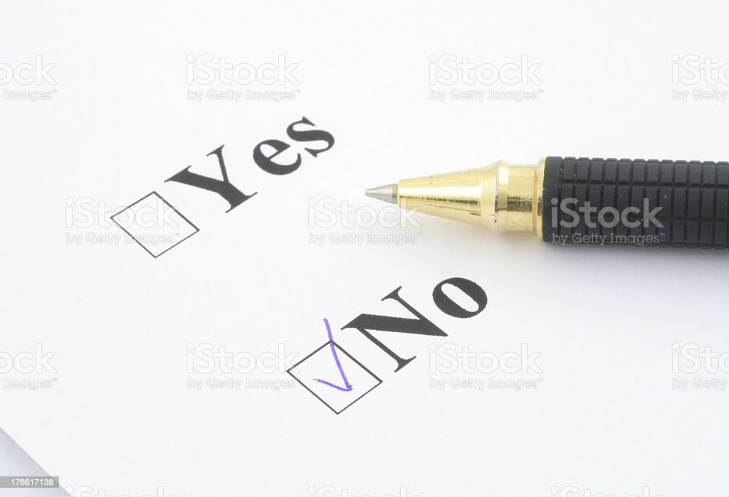 I SAID NO - close-up royalty-free stock photo