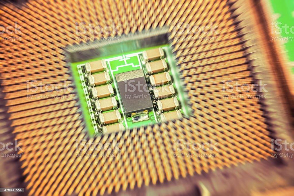 CPU closeup stock photo