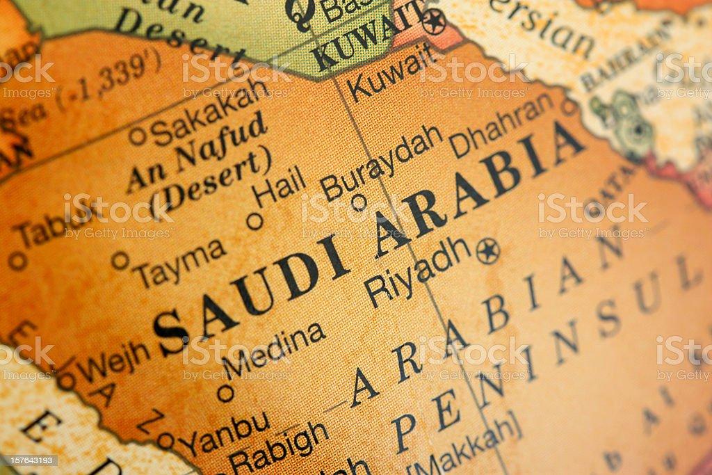 Mapa Arabia Saudyjska – zdjęcie