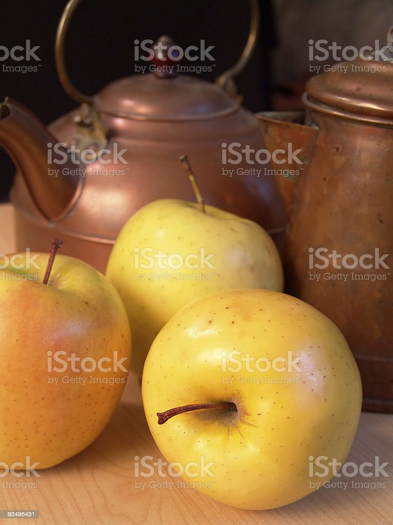 A close-up picture of an apples royalty-free stock photo