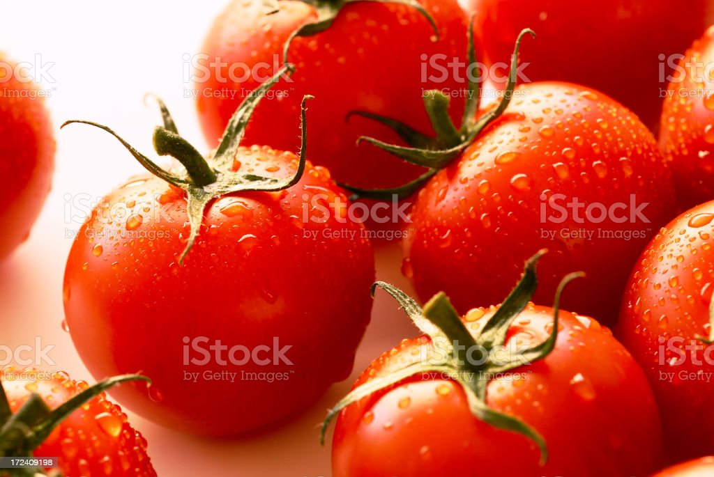 A close-up picture of cherry tomatoes royalty-free stock photo