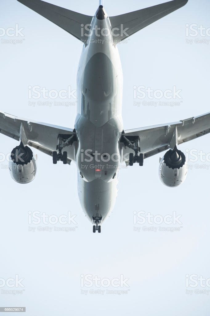 Close-up foto van het vliegtuig. royalty free stockfoto