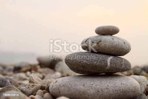 istock Close-up picture of zen stones 186803914