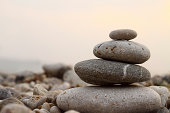 Close-up picture of zen stones