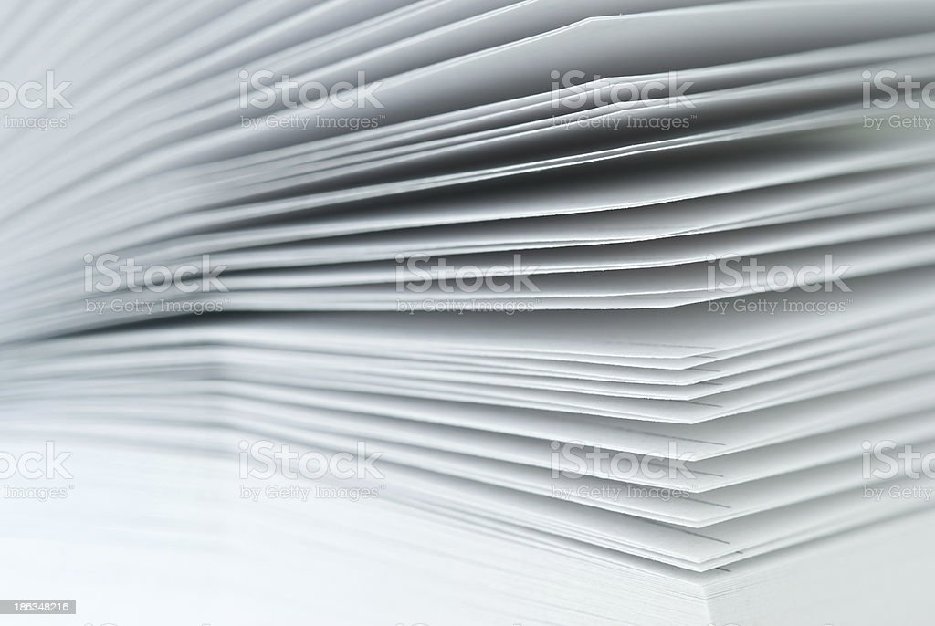 Close-up pieces of paper stock photo