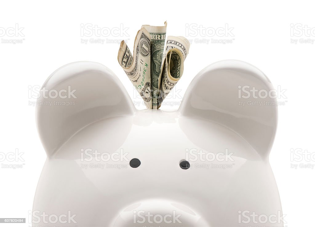 Close-up piggy bank stock photo