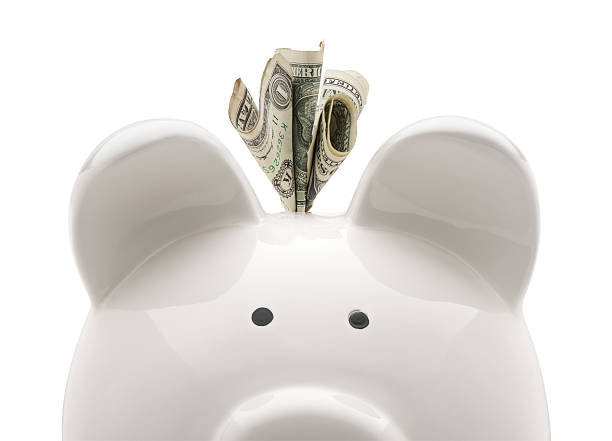 close-up piggy bank - piggy bank stock photos and pictures