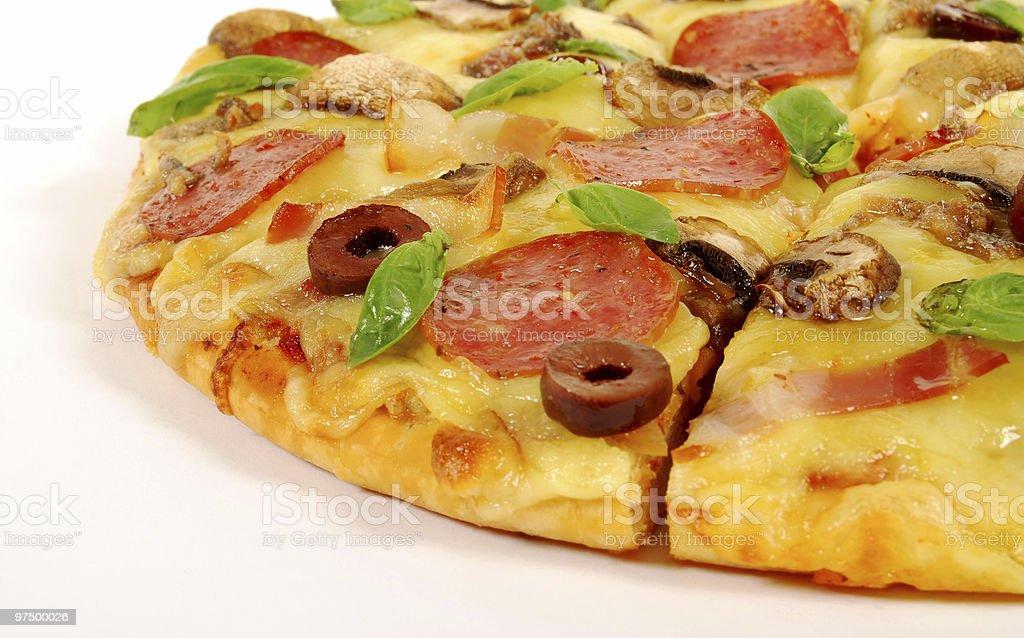 Closeup pizza royalty-free stock photo