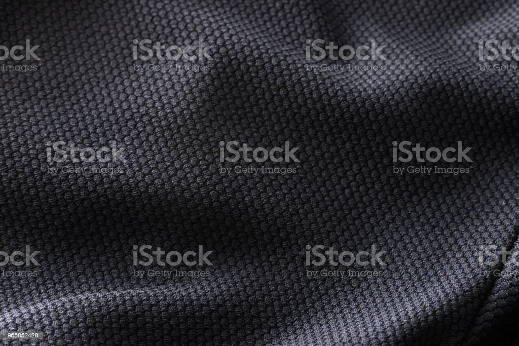 Close-up polyester fabric texture of black athletic shirt - Royalty-free Abstract Stock Photo