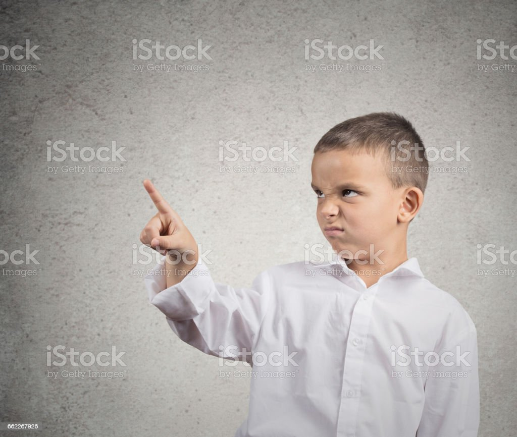Closeup portrait funny looking grumpy boy with disgust royalty-free stock photo
