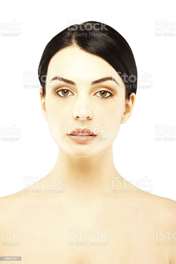 Close-up portrait of a beautiful woman royalty-free stock photo