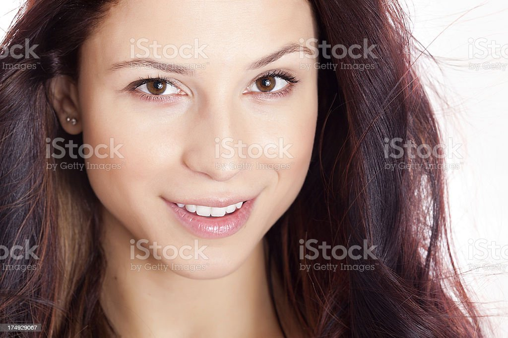 Closeup Portrait of a Beautiful Young Woman royalty-free stock photo