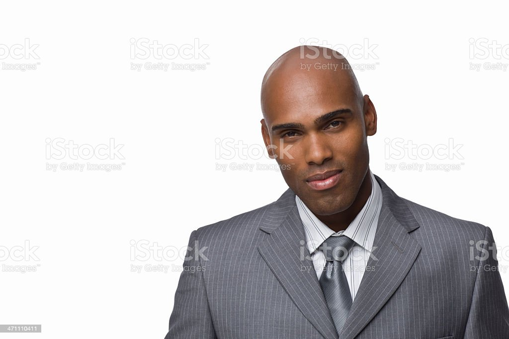 Closeup portrait of a confident young businessman royalty-free stock photo