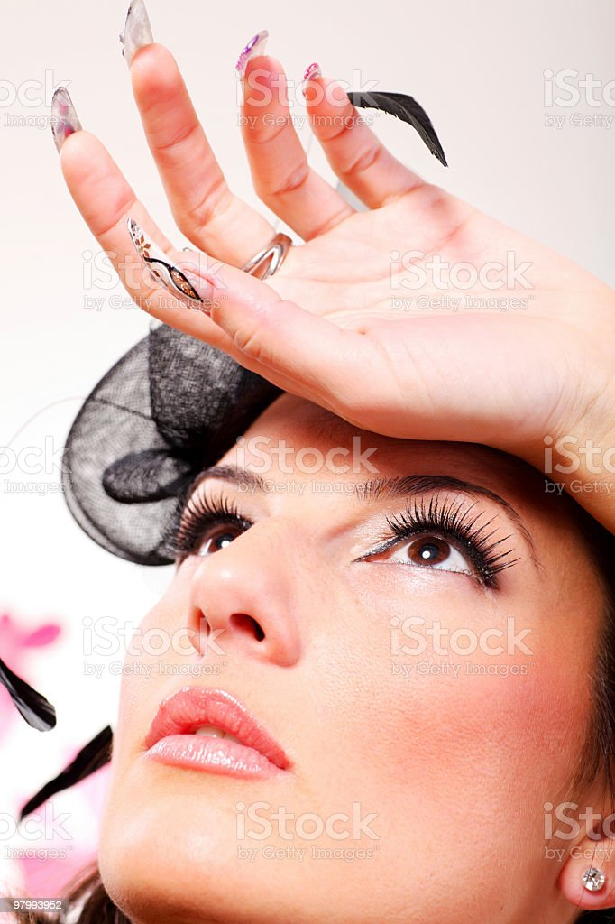 Close-up portrait of a glamour beautiful woman. royalty-free stock photo