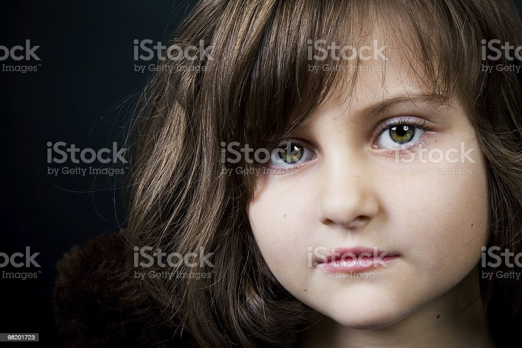 closeup portrait of a little girl royalty-free stock photo
