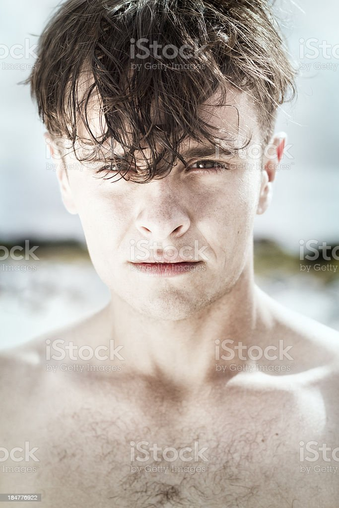 Closeup portrait of a man royalty-free stock photo