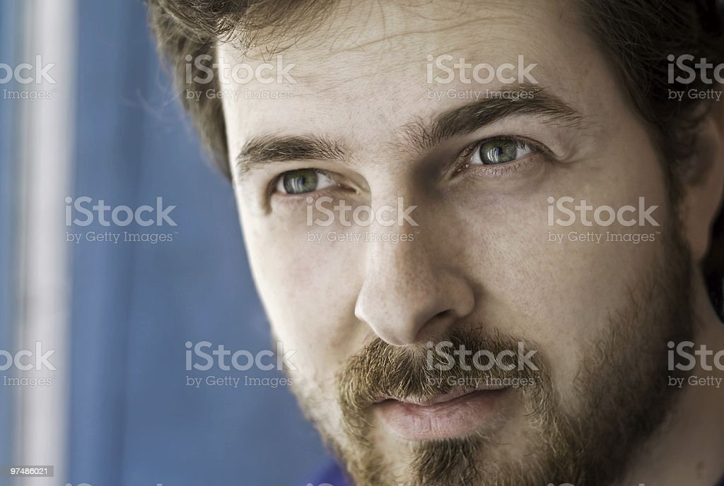 Close-up portrait of a masculine guy royalty-free stock photo