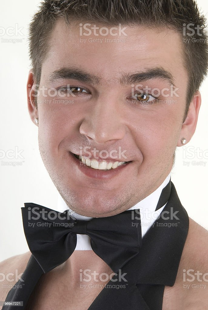 close-up portrait of a waiter royalty-free stock photo