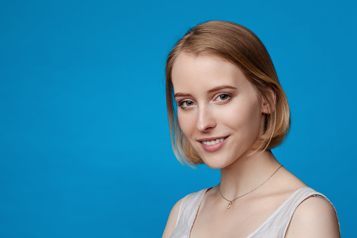 Closeup Portrait Einer Jungen Attraktiven Frau 20 Jahre In