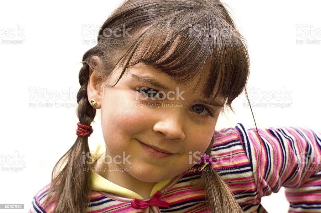 Closeup portrait of a young girl. royalty-free stock photo